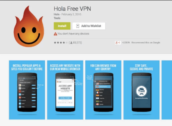 Hola VPN: Peer to peer VPN service