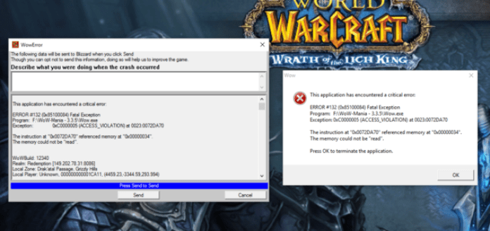 How to fix theWOW error 132?