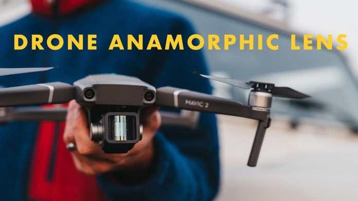 Drone Anamorpfic lens