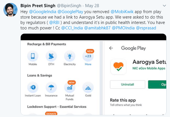 Bipin Preet Singh Tweet