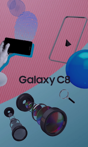 Samsung Galaxy C8 dual-lens camera