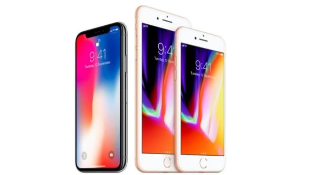 Apple iPhone X, iPhone 8 and iPhone 8
