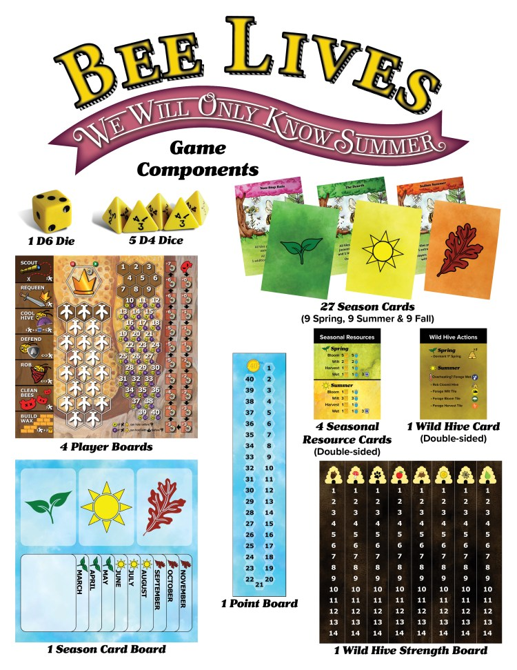 first component sheet of 2 for Bee Lives