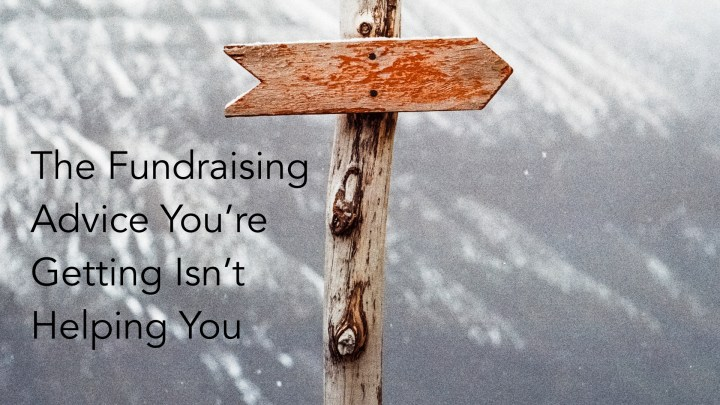 fundraising advice