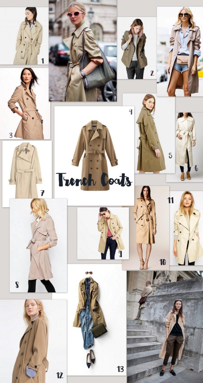 how to style a trench coat hither