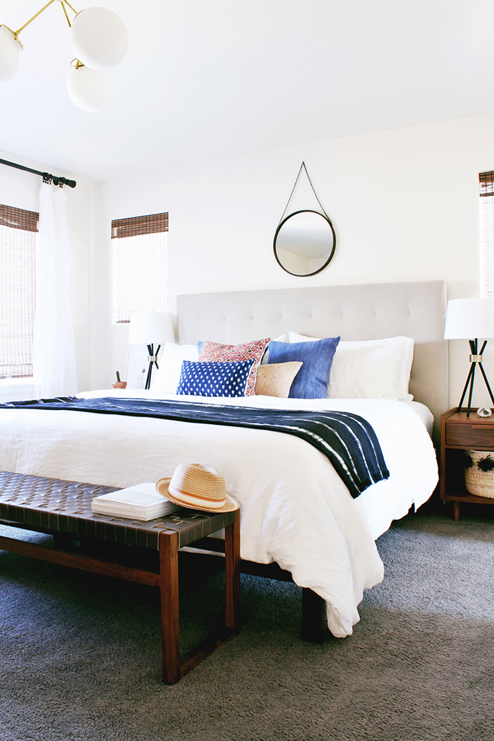 A Modern, Eclectic Bedroom Reveal - Hither & Thither on Modern Bohemian Bedroom Decor  id=14860
