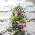 Easy Diy Centerpiece How To Make A Eucalyptus Flower Garland Hither Thither