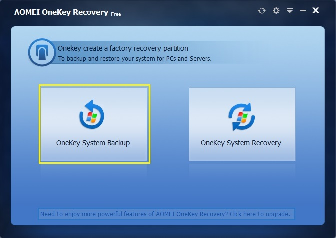 AOMEI OneKey Recovery Free Download