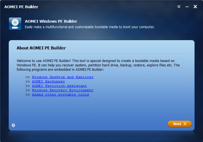AOMEI PE Builder Free Download