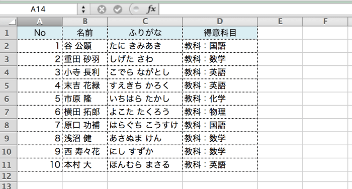 Excel書式設定 アットマーク1