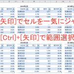 Excel(エクセル)の使い方[基本編]:[Ctrl]+矢印でセルをジャンプさせるショートカットキー