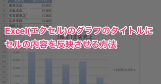 エクセル グラフのタイトル変更0