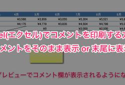 Excel(エクセル)コメント 印刷00
