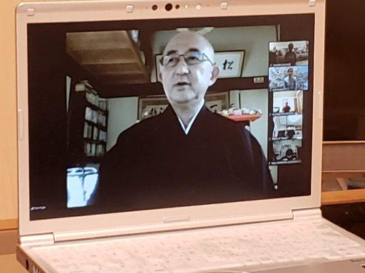 zoomで坐禅指導を開始した藤尾聡允僧侶