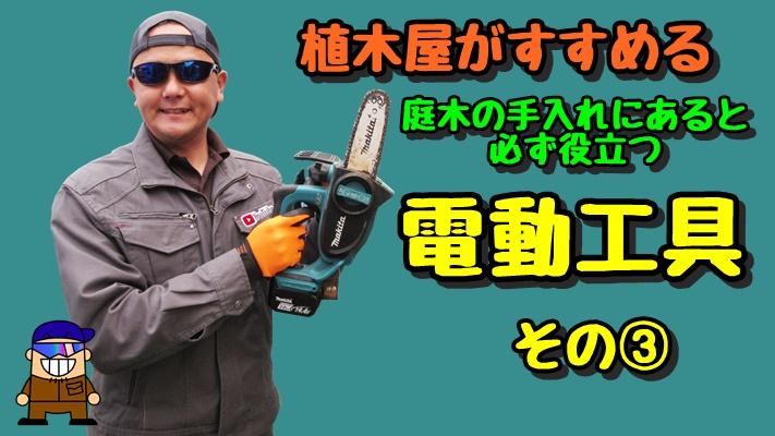 植木屋がすすめる庭木の手入れにあると必ず役立つ電動工具 その3