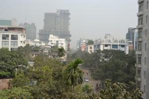バングラデシュの街が霞んでいます