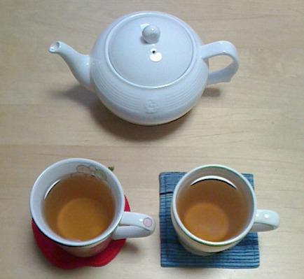 ホット麦茶、おいしいですよ。