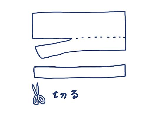 半幅帯の作り方①切る