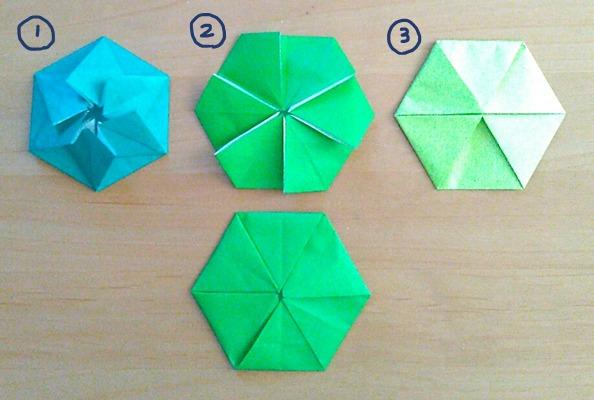 普通サイズの折り紙で作るポチ袋 六角形
