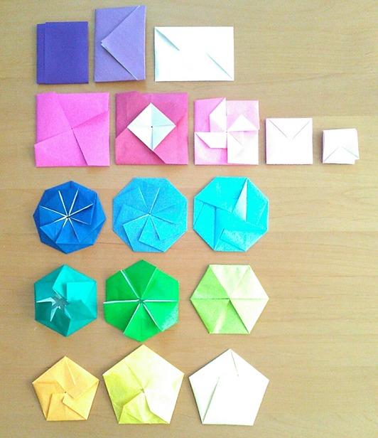 普通サイズの折り紙で作るポチ袋