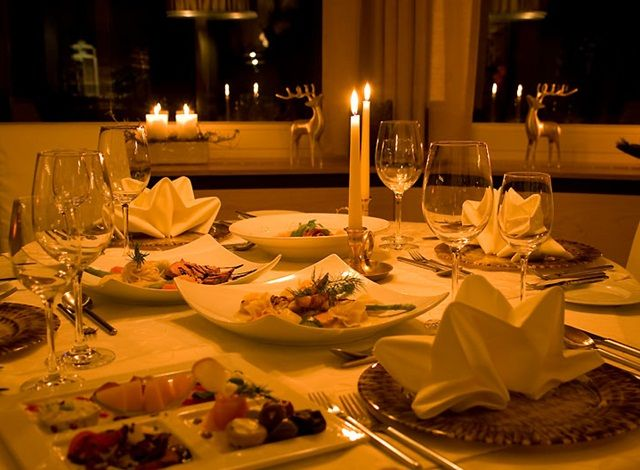 Candle light's dinner with your Mom