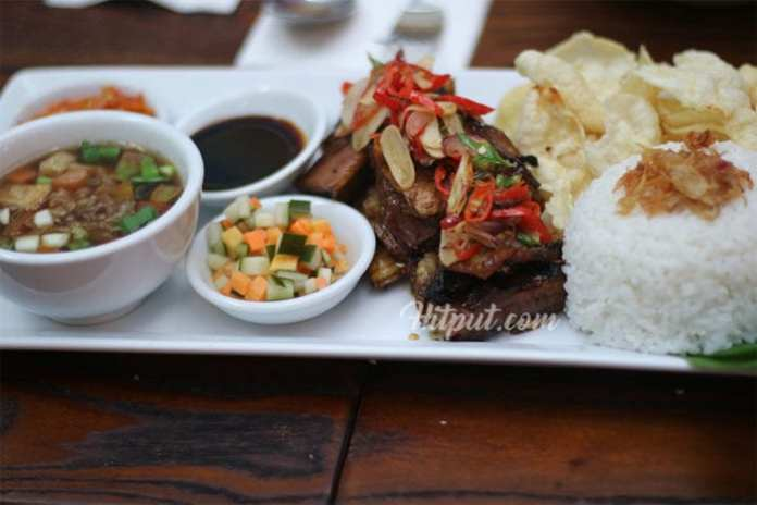 (Menu Sop Iga Bakar Adamar Asian Bistro. Photo: hitput.com)