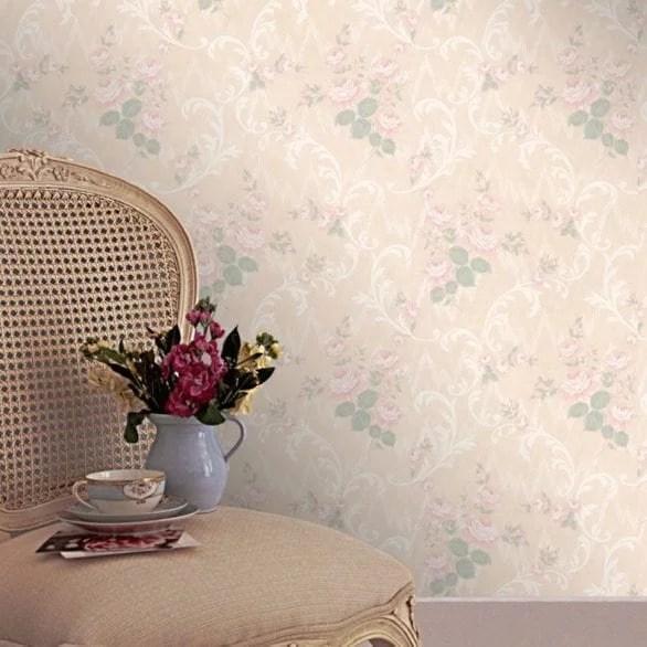 country cottage - Jocelyn pink wallpaper.