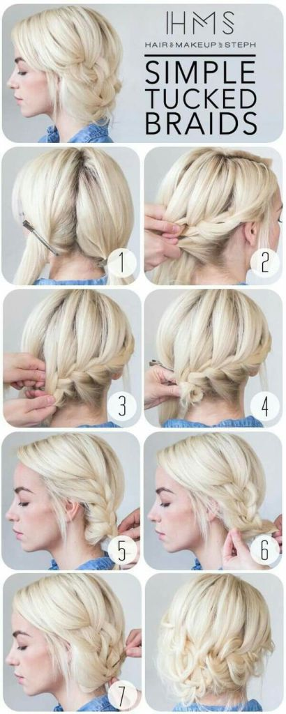 simple Tucked Braids Hair Tutorial (Image: Pinterest)