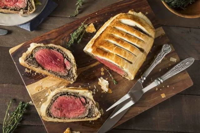 Menu Beef Wellington. (Image: Google)