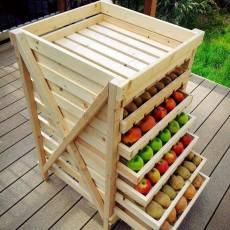 Стелаж за плодове от дърво