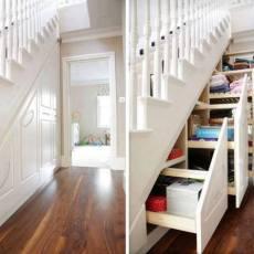 стълбище с практични чекмеджета