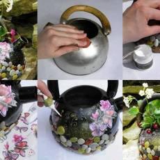 Уникална декорация на чайник