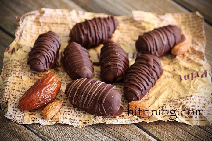 шоколадови бонбони с бадеми