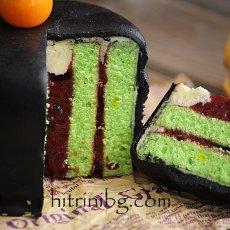 Мини торти с цветен фондан
