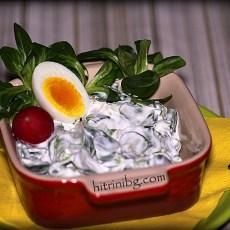 Бейби спанак - млечна салата