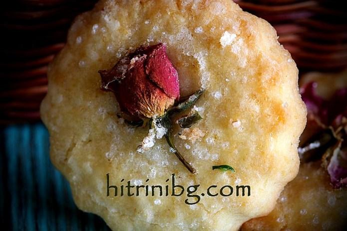 изискани бисквити с рози
