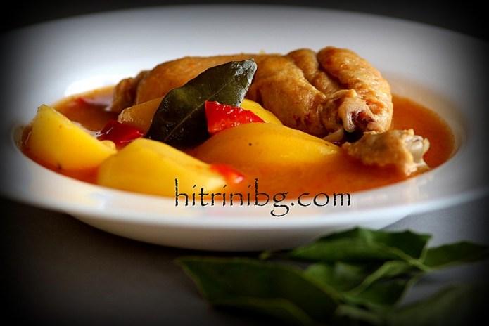 вкусна яхния с пилешки бутчета