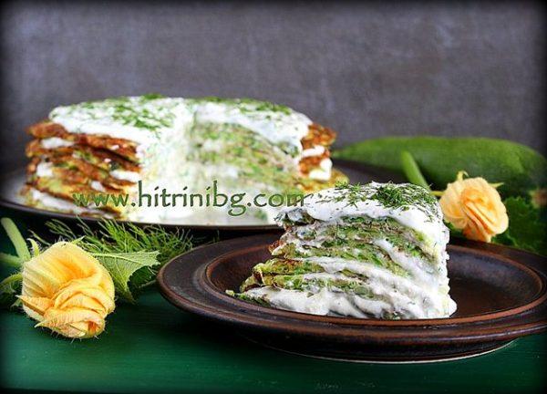 Свежа торта с тиквички