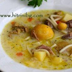 Супа от кокошка със застройка