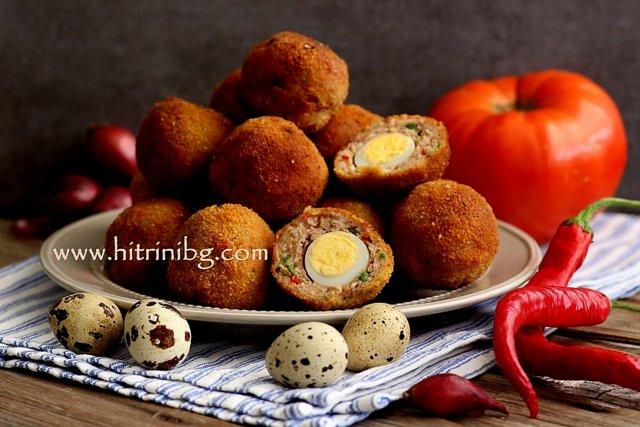 яйца по шотландски с кайма