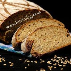 Хляб с лимец и пълнозърнесто брашно