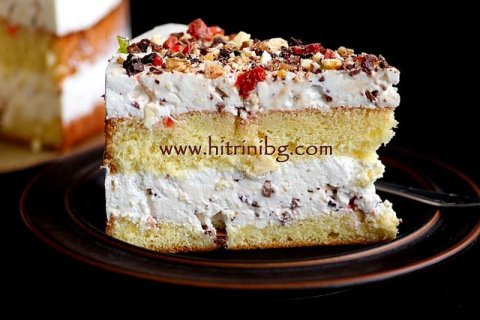 пандишпанова торта с лек крем