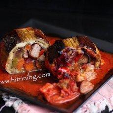 Патладжан с месо и зеленчуци