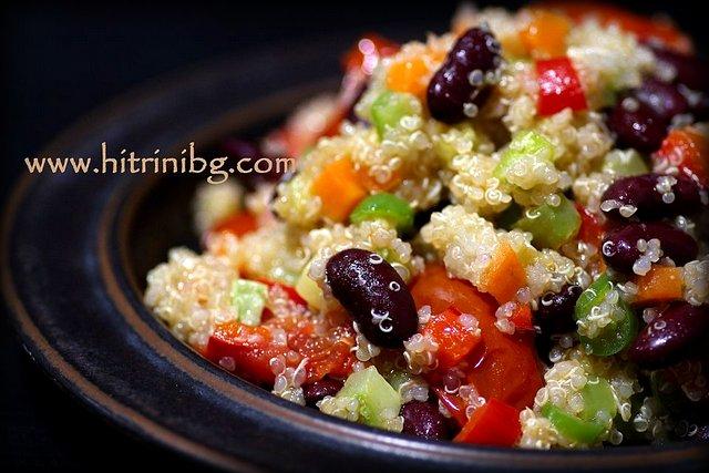 ястие от киноа със зеленчуци