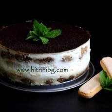 Торта с нишесте, бишкоти и кафе