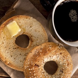 coffee and bagel