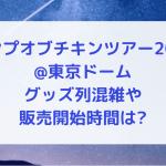 バンプオブチキンツアー2019@東京ドーム|グッズ列混雑や販売開始時間は?