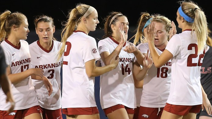 Hogs' soccer shuts out Ole Miss in first SEC Tournament match