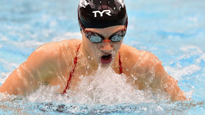 Hopkin picks up second-fastest split in 200-medley at SEC Championships