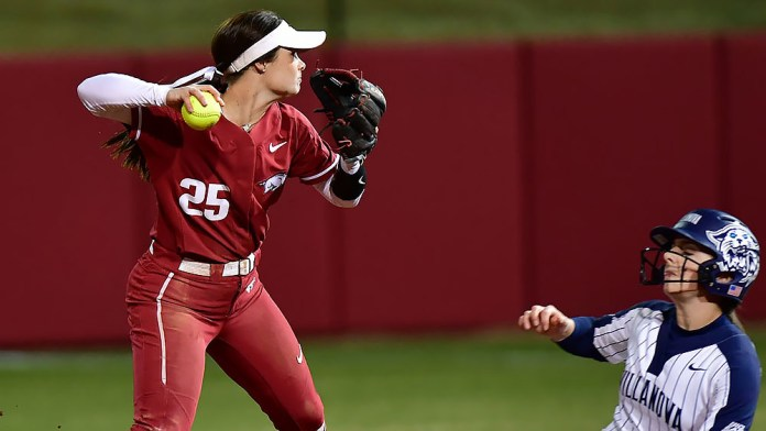 Hogs split with win over Villanova after earlier loss to Florida State on Saturday